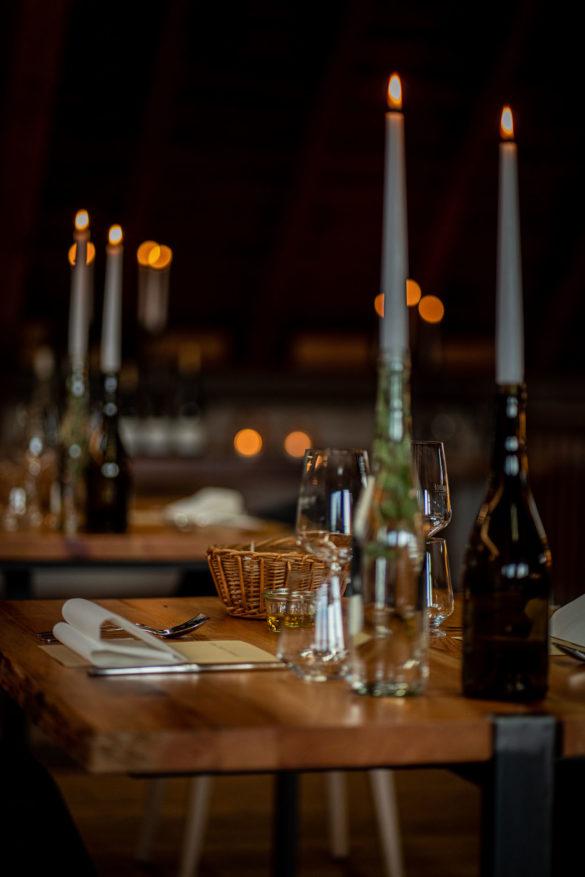 Tischdekoration Ohne feste Ordnung